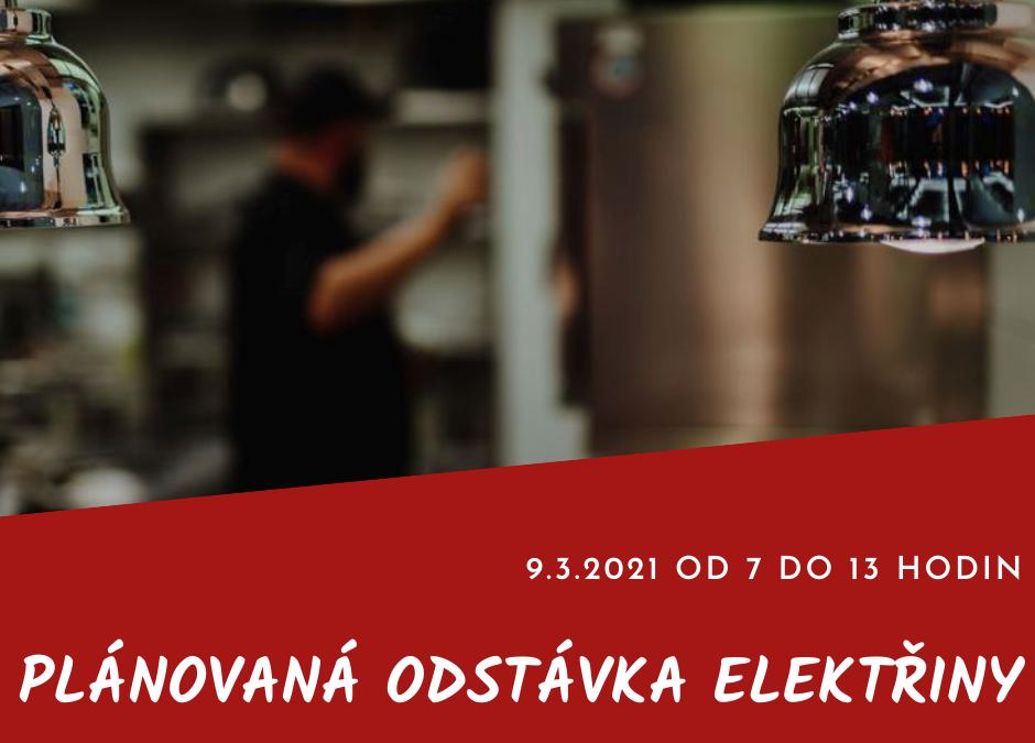 Odstávka elektřiny dopoledne 9.3.2021
